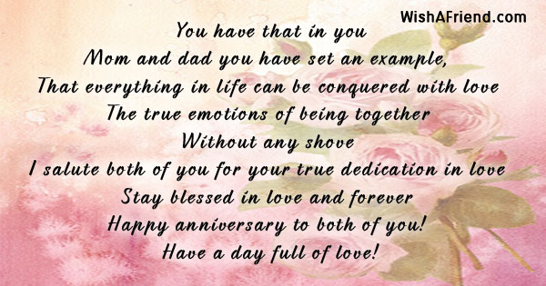 30th Wedding Anniversary Gifts For Mum And Dad: You Have That In You, Anniversary Poem For Parents