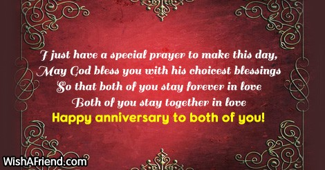 Religious Wedding Anniversary Wishes For Parents