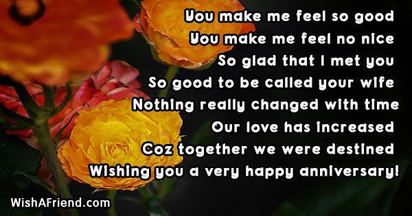 you make me feel so good anniversary message for husband