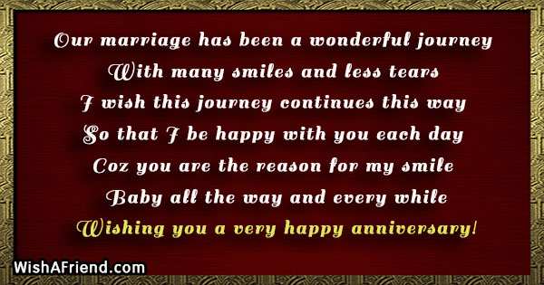our marriage has been a wonderful anniversary message for husband