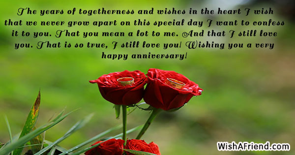 the years of togetherness and wishes anniversary message for husband