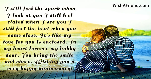 i still feel the spark when anniversary message for husband