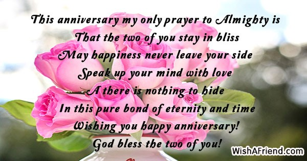 Religious anniversary wishes