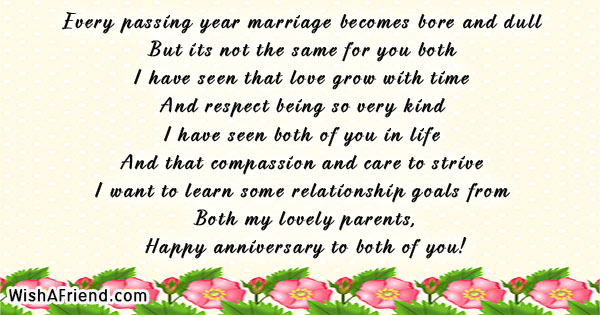 Every passing year marriage becomes bore anniversary message for 19718 anniversary messages for parents m4hsunfo