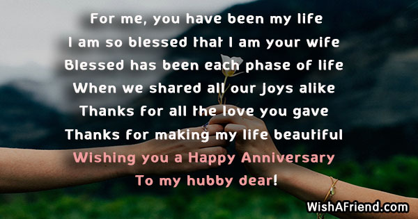 For me you have been my anniversary message for husband