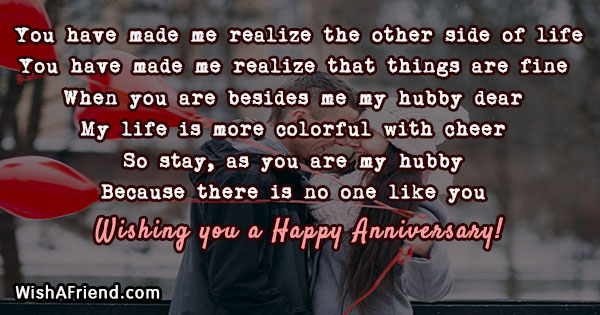 You have made me realize the anniversary message for husband