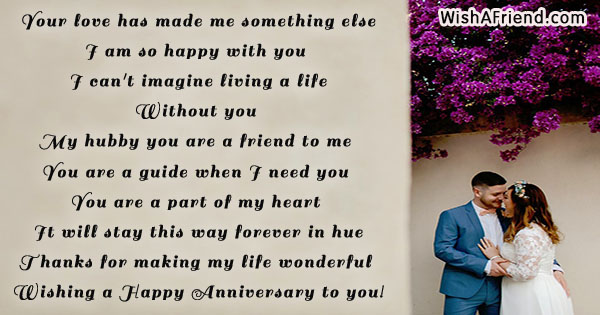 your love has made me something anniversary message for husband