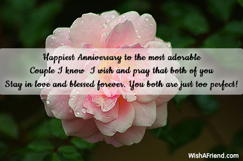 happiest anniversary to the most adorable happy anniversary message