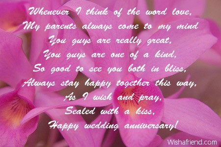 Anniversary poems for