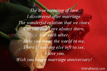 The true meaning of love i discovered anniversary message