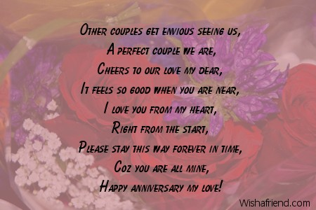 Other couples get envious seeing us anniversary message