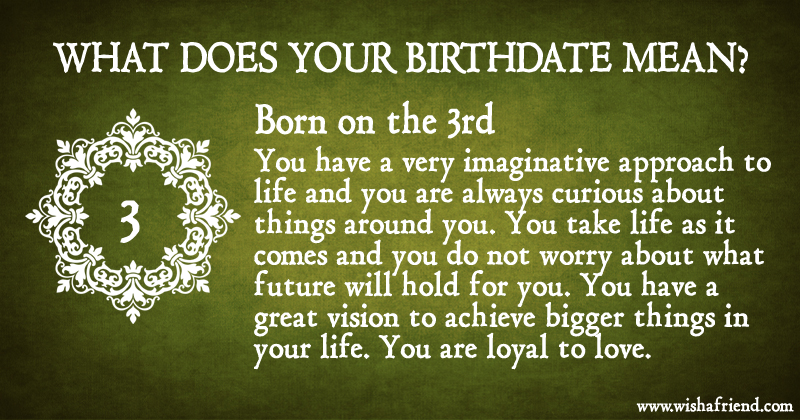 Birth date meaning in Perth
