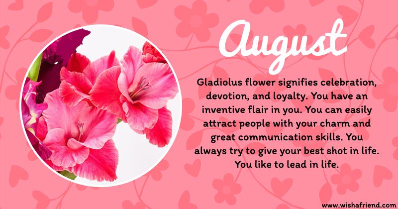 august birth flower birth flower guide birth flowers by