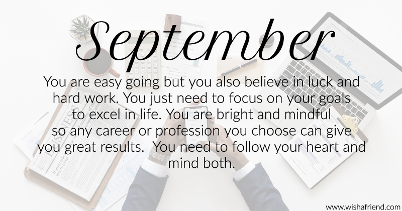 What Does Your Birth Month Say About Your Career Born In September
