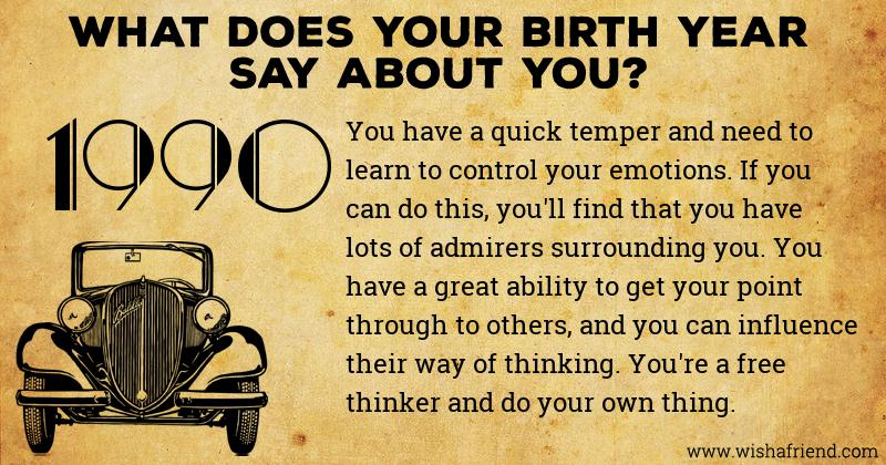 what does your birth year say about you