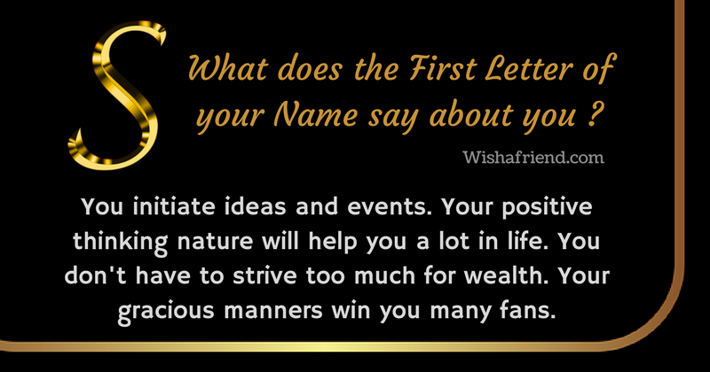 First Letter Of Your Name Personality