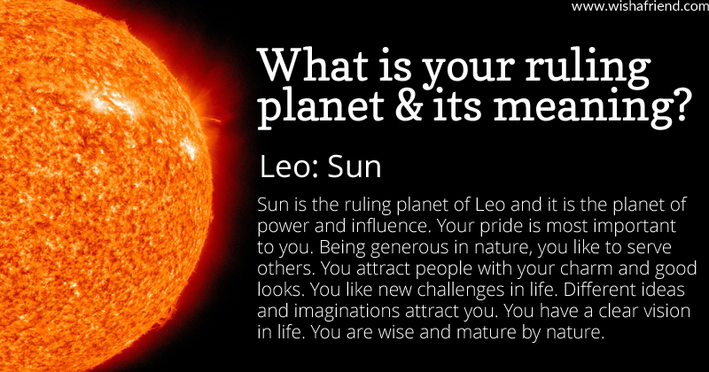 find out your ruling planet and its meaning leo sun