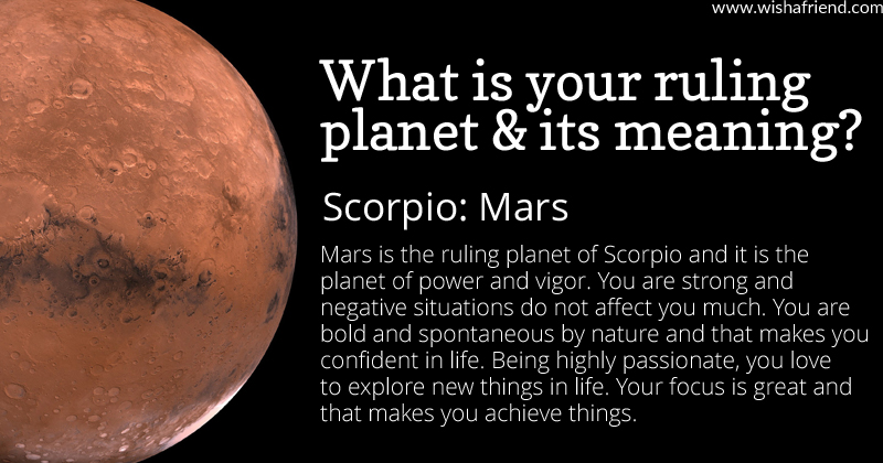 Find out your ruling planet and its meaning- Scorpio- Mars