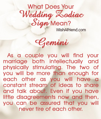 What Does Your Wedding Zodiac Sign Mean? - Gemini
