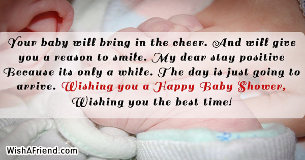 Your Baby Will Bring In The Baby Shower Message