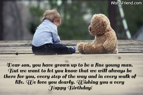 Dear son you have grown up birthday wish for son 1037 son birthday wishes m4hsunfo