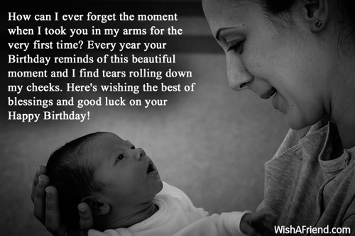 How can i ever forget the birthday wish for son