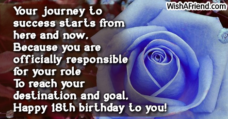Quotes 18Th Birthday Simple 18Th Birthday Sayings