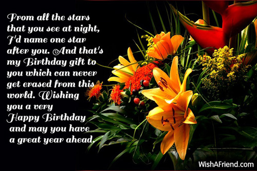 From All The Stars That You Birthday Wish For Brother