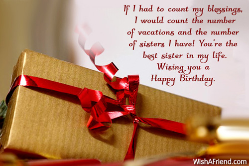 1118 Sister Birthday Wishes