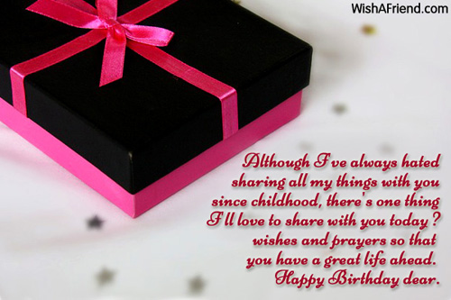 Happy Birthday Message And Prayer ~ Although i've always hated sharing all birthday wish for sister