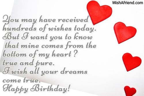 Heart touching birthday wishes for ex girlfriend