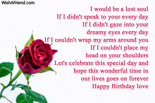 I would be a lost soul if birthday wish for boyfriend birthday wishes for boyfriend m4hsunfo Image collections