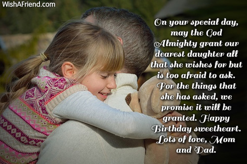 On Your Special Day May The Birthday Wish For Daughter