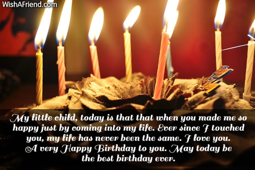 My Little Child Today Is That Birthday Wish For Daughter