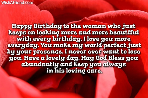 Happy Birthday Love Quotes For Her Adorable Birthday Wishes For Wife