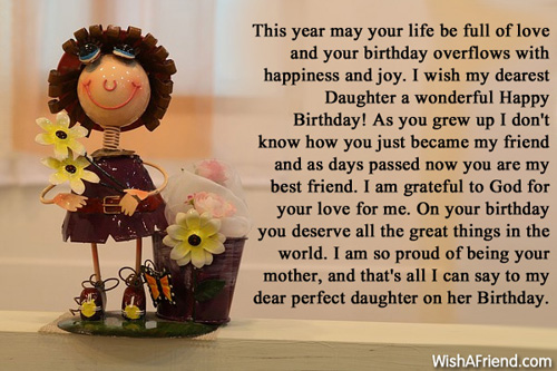 15th Birthday Wishes For my Daughter i Wish my Dearest Daughter a