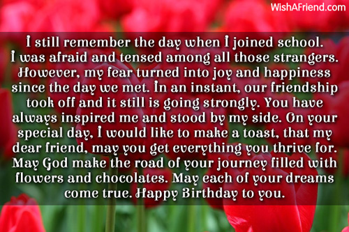 Birthday Quote For College Friend : I still remember the day when best friend birthday wish