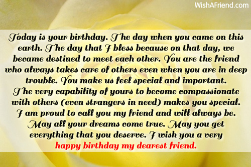 Today is your birthday the day best friend birthday wish 11750 best friend birthday wishes m4hsunfo