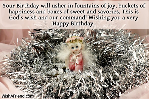 Your Birthday will usher in fountains, Christian Birthday Wish