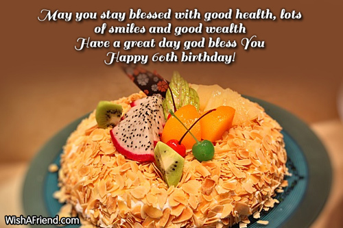 60th Birthday Wishes Birthday Wishes Health Wealth And Happiness