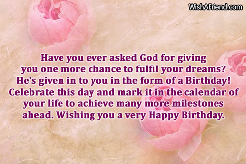 Have you ever asked God for Best Birthday Wish – Best Birthday Greetings Ever