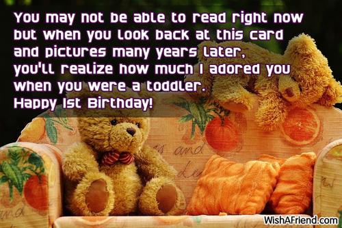 1221 1st Birthday Wishes