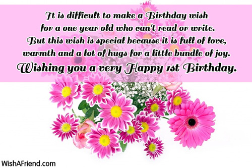 Happy Birthday Quotes For One Year Old Baby Boy St Wishes Page