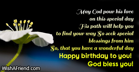 May god pour his love on christian birthday greetings 12854 christian birthday greetings m4hsunfo Gallery