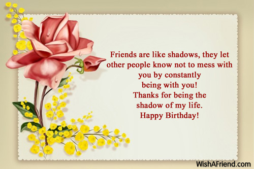 Shadow Goeie Wense – Birthday Greetings for Friends Sayings