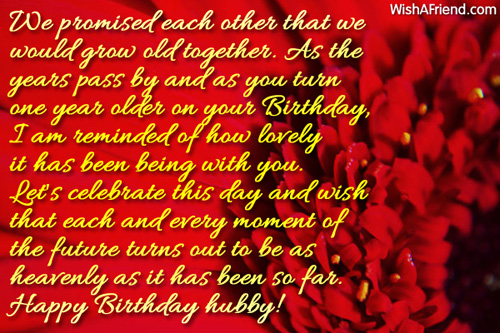We Promised Each Other That We Husband Birthday Message