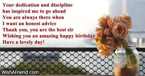 Your dedication and discipline has inspired Birthday Wish For Boss – Happy Birthday Greetings to Boss