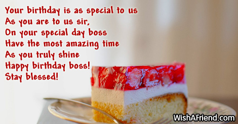 Your birthday is as special to birthday wish for boss 14573 boss birthday wishes m4hsunfo