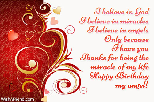 I Believe In God I Believe In Wife Birthday Message