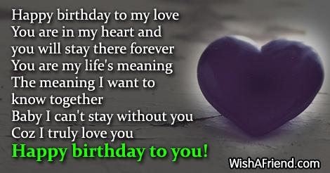 Happy Birthday To My Love You Birthday Wish For Boyfriend Happy Birthday Wishes For My